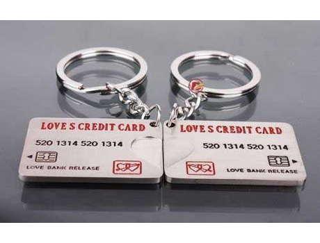 Парный брелок (любовные кредитки)