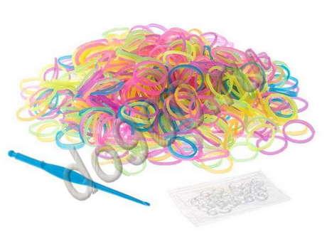 Резинки для плетения браслетов (200шт)