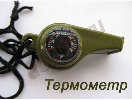 3в1 Свисток, компас, термометр