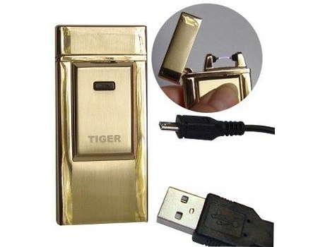 Электроимпульсная, дуговая USB зажигалка TIGER