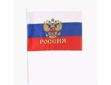 Флажок Россия 24х16 см