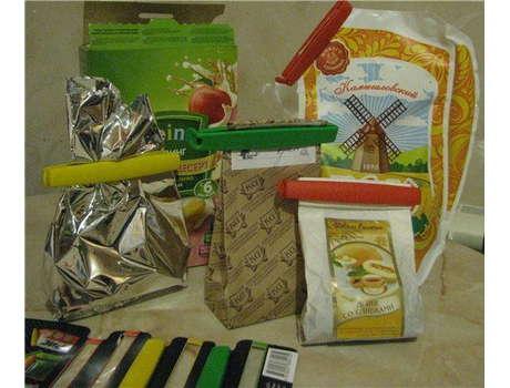 Защелки для пакетов