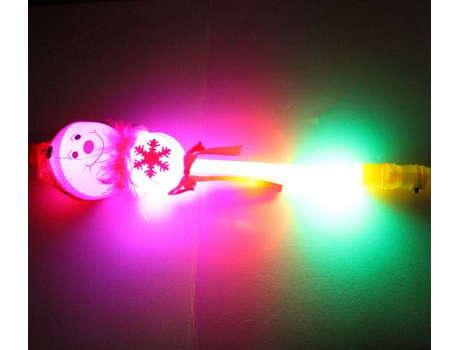 Снеговик на палке, светящийся