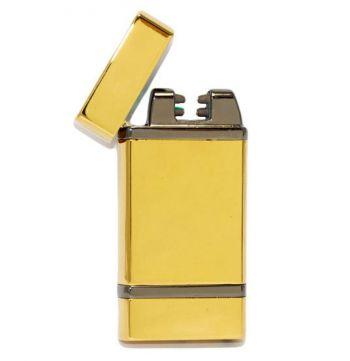 Электроимпульсная, 2х дуговая USB зажигалка с лазером