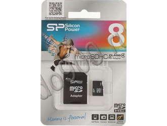 Карта памяти microSD SILICON POWER 8 ГБ