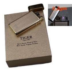 Фото товара Электроимпульсная, 2х дуговая USB зажигалка Tiger