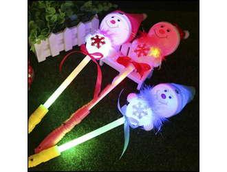 Фото товара Снеговик на палке, светящийся