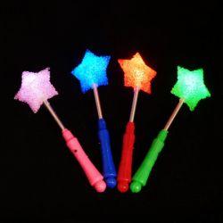 Светящаяся палочка звезда на пружинке